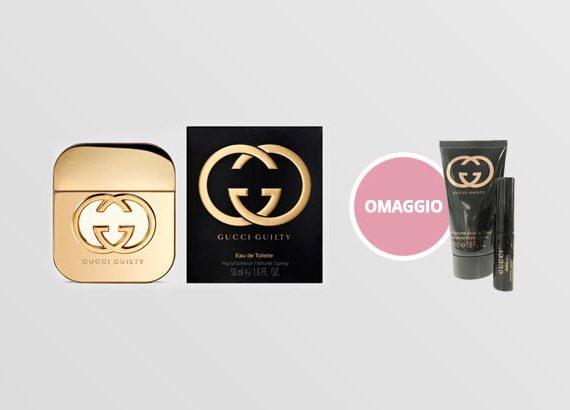 fragranza gucci con prodotto in omaggio
