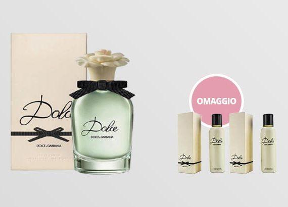 profumo D&G con prodotti in regalo